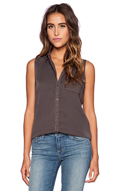 Paige Denim Raine Top in Charcoal Grey