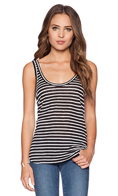 Paige Denim Celia Tank in Black & White