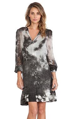 Pam & Gela Victorian Dress in Tie Dye Grey