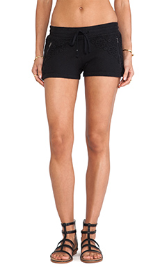 PAM & GELA Crochet Mix Short in Black