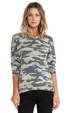 Pam & Gela Lisa Boxy Sweatshirt in Camo Print