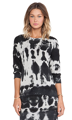 Pam & Gela Lisa Boxy Sweatshirt in Heather Grey Multi