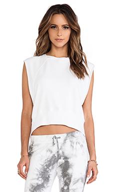 Pam & Gela Crop Muscle Sweatshirt in Optic White