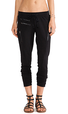 PAM & GELA Sweatpant with Zips in Black