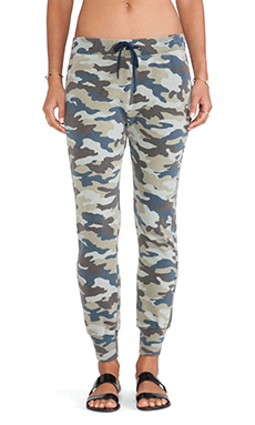 Pam & Gela Sam Drop Crotch Pant in Camo Print
