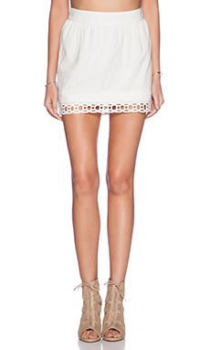 Pam & Gela Lace Voile Skirt in White