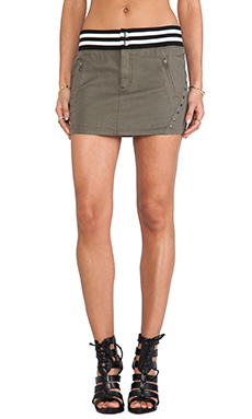 PAM & GELA Embellished Skirt in Army Green
