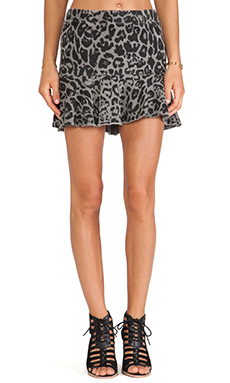 Pam & Gela Kate Flippy Skirt in Pigment Grey Leopard