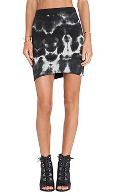 Pam & Gela Hi Lo Skirt in Heather Grey Multi