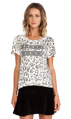 Pam & Gela Distressed Crew in Pretty Kitty Leopard