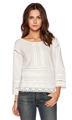 Pam & Gela Voile Top in White