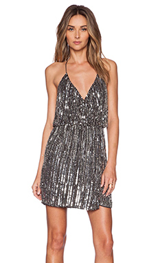 Parker Black Catarina Sequin Dress in Silver