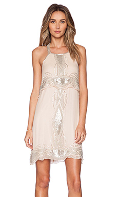 Parker Black Reese Sequin Dress in Blush