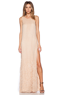 Parker Black Ryland Sequin Dress in Sand