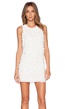 Parker Black Allegra Sequin Dress in White