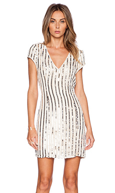Parker Black Serena Sequin Dress in Nude