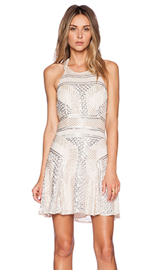 Parker Black Leona Sequin Dress in Blush