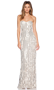 Parker Black Olympia Sequin Dress in Nude