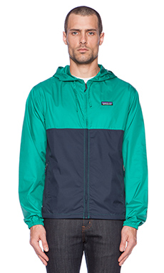 Patagonia Light & Variable Hoody in Navy Blue & Emerald