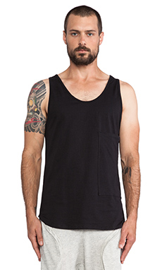 Post Bellum Oversized Pocket Tank in Noir