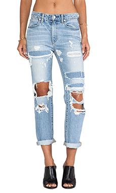 Paper Denim & Cloth High Rise Straight Leg in Xenon Destructed