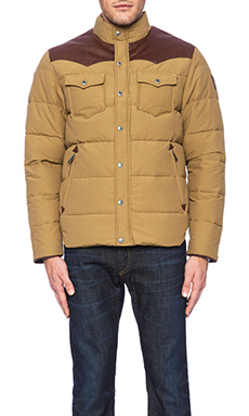 Penfield Stapleton Down Jacket in Tan
