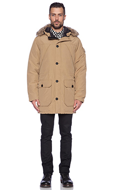 Penfield Hoosac Faux Fur Parka in Tan