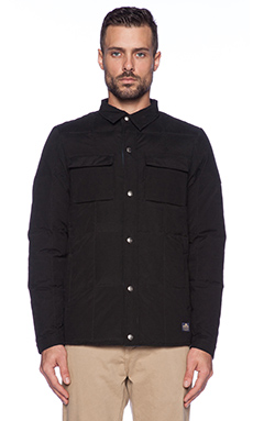 Penfield Loring Insulated Shirt in Black