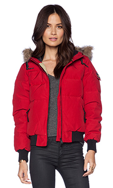 Penfield Skipton Down Insulated Glacier Jacket in Deep Red