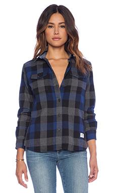 Penfield Chatham Buffalo Plaid Shirt in Blue/Black Plaid