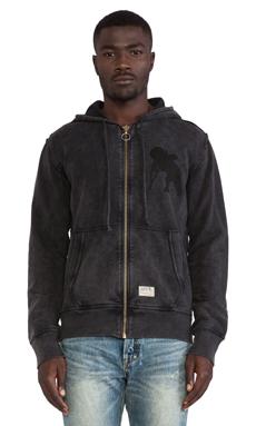 PRPS Goods & Co. Zip Hoodie in Black
