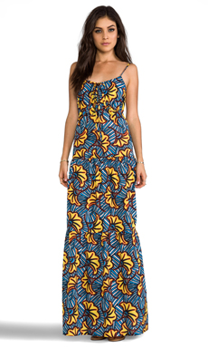 Pia Pauro Large Floral Maxi Dress in Olympia