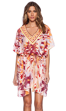 Pia Pauro Ladies Embroidered Kaftan in Tiki Beach Blush