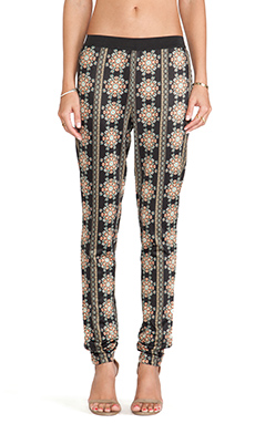 Pia Pauro Allover Print Legging in Highland Embroidered Print