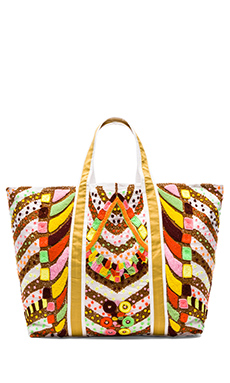 Pia Pauro Discovery Large Tote in White