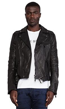 Pierre Balmain Leather Jacket in Black