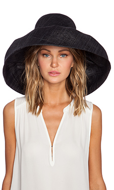 PILYQ Wide Sun Hat in Black