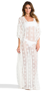 PILYQ Brynn Dress in Bahama White