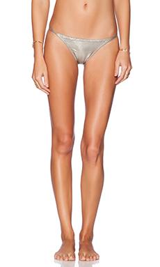 PILYQ Twiggy Babe Bikini Bottom in Metallic