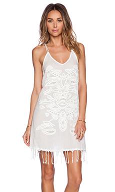 PILYQ Sari Dress in White