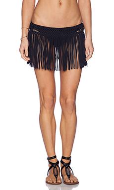 PILYQ Fringe Skirt in Black