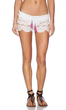 PILYQ Lexi Lace Short in White