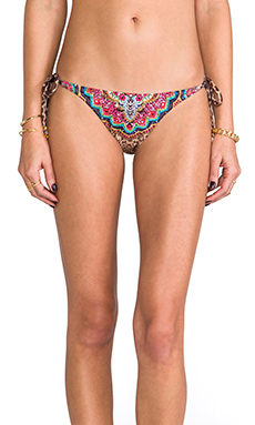 PILYQ Embroidered Tie-Side Teeny Bottoms in Raja