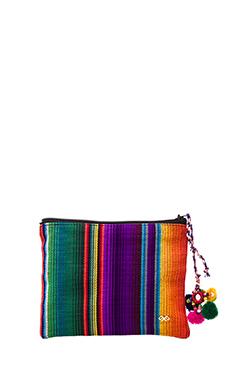 PILYQ Maya Pouch in Multi Stripe