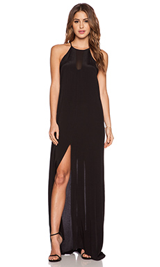 Pink Stitch Maeve Maxi Dress in Black
