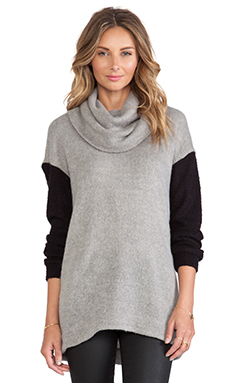 Pink Stitch Mia Sweater in Grey Marle