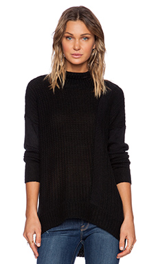 Pink Stitch Diego Sweater in Black