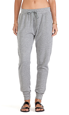 Pink Stitch Cara Sweatpants in Grey Marle