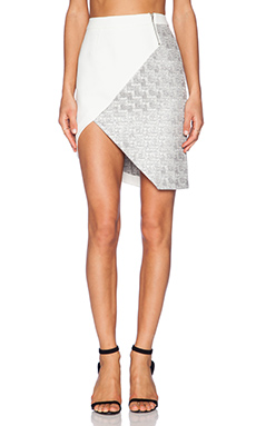 Pink Stitch Genna Skirt in Cream