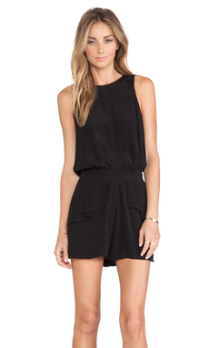 Pink Stitch Dayton Playsuit in Black